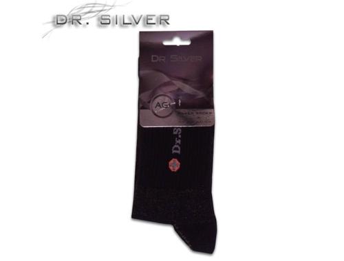 Dr. Silver ezüst zokni fehér